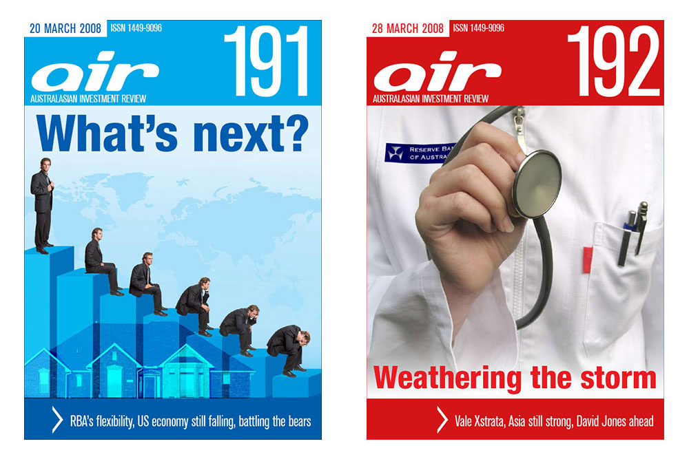 Covers Of Issues 191 And 192 Of The Australian Investment Review Online Magazine.