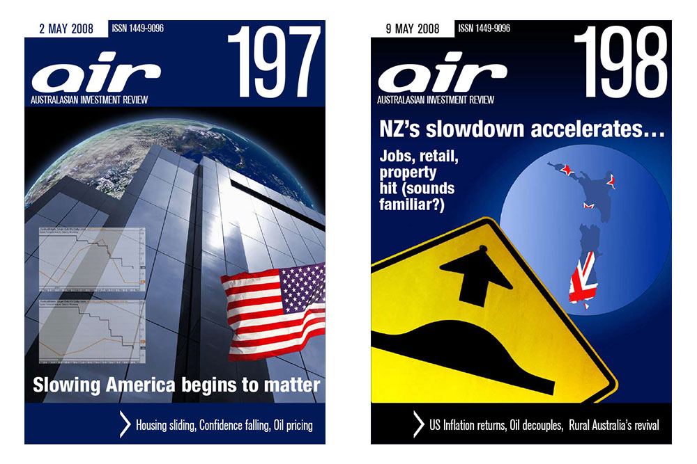 Covers Of Issues 197 And 198 Of The Australian Investment Review Online Magazine.
