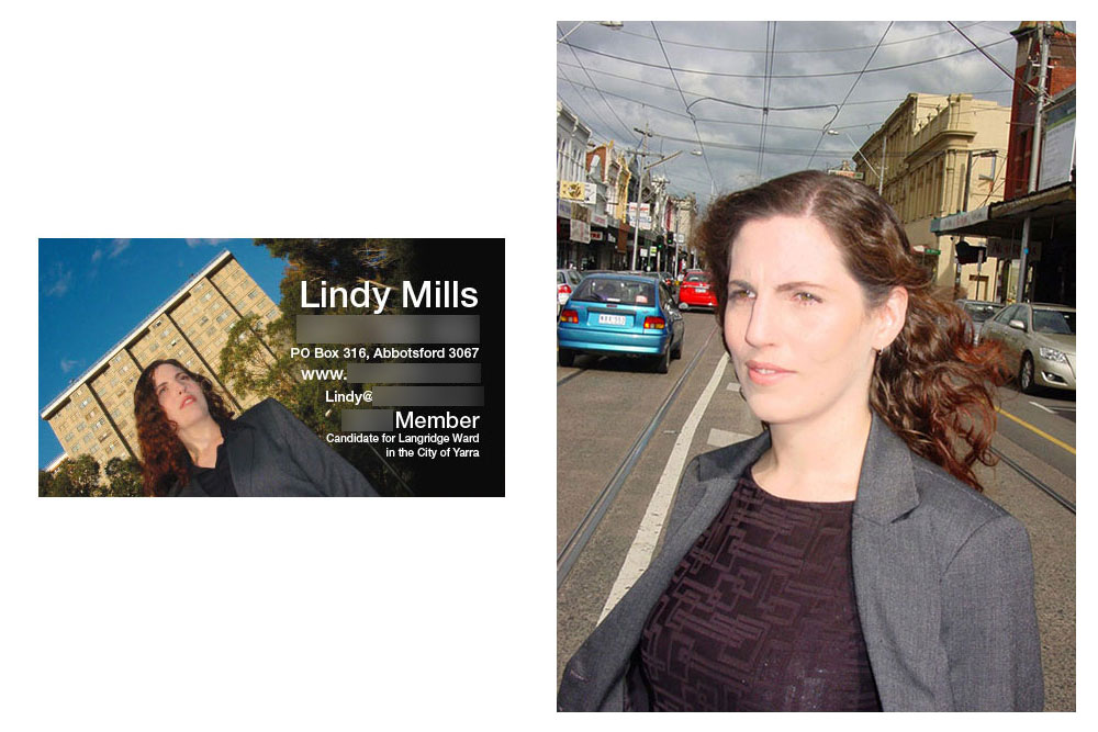 Business Card And Photography For Lindy Mills.