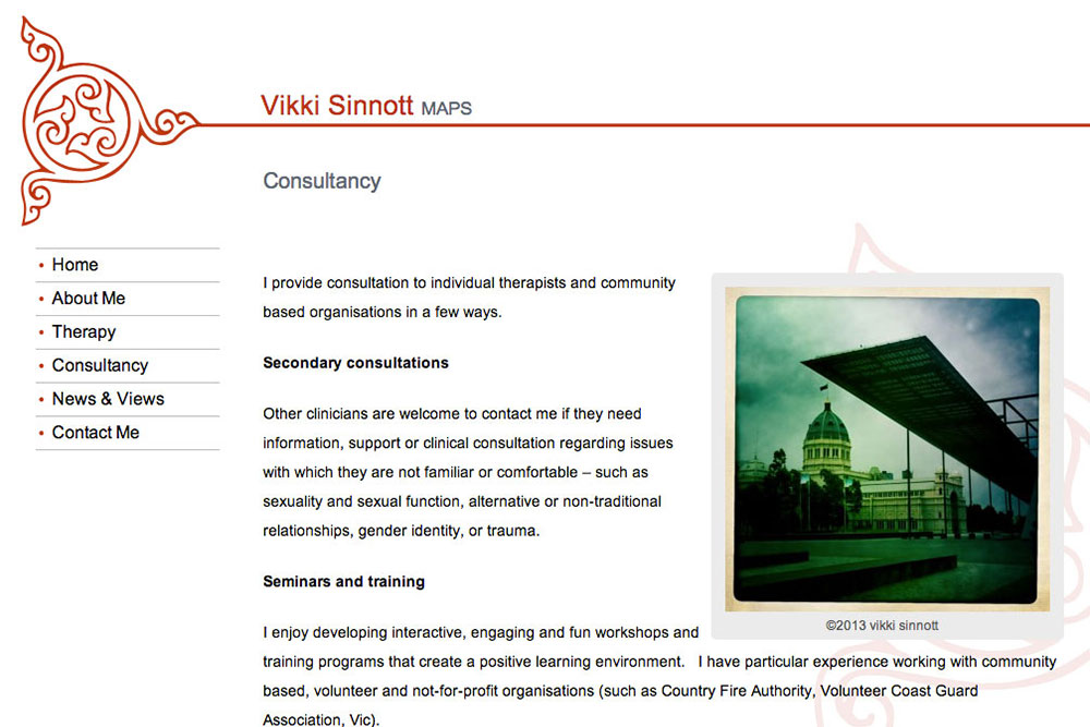 Vikki Sinnott Website Redesign