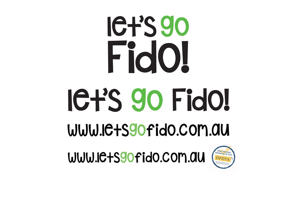 Let's Go Fido! Logotype Treatments.