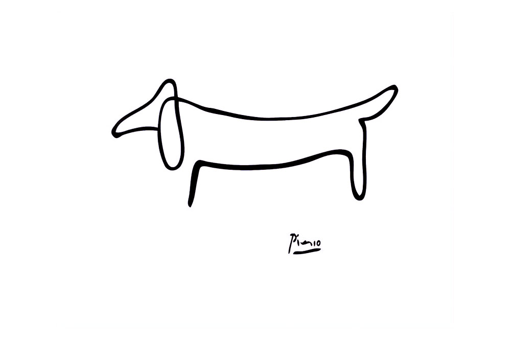 Picasso Le Chien One Line Drawing