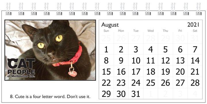 UBC Calendar 2021 8 August