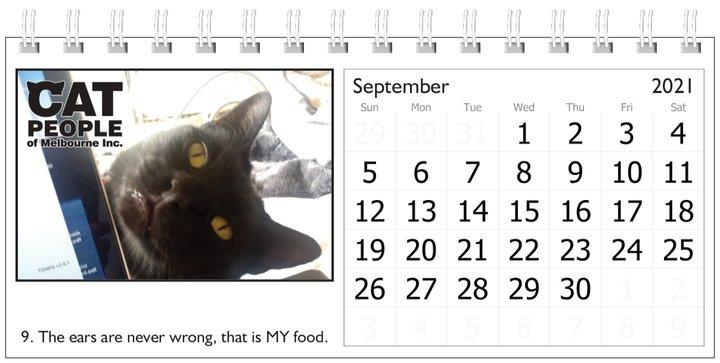 UBC Calendar 2021 9 September